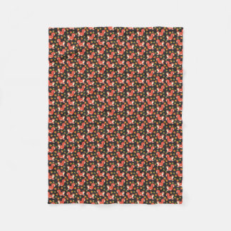 Custom Squirrel and Autumn Leaf Pattern Fleece Blanket