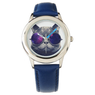 Custom Stainless Steel Blue Watch