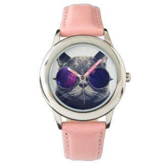 Custom Stainless Steel Pink Watch