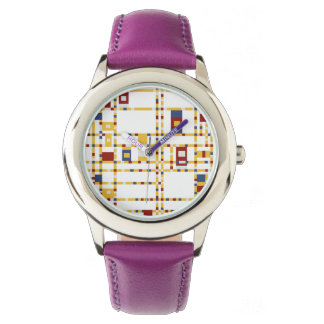 Custom Stainless Steel Purple Watch