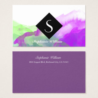 Custom Standard Business Card With Watercolor Art