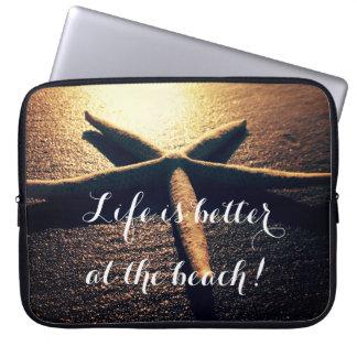 Custom Starfish beach photo 15 inch laptop case Laptop Sleeve