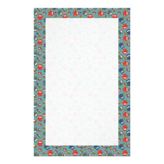 Custom Stationery, Notepaper, Cute Colorful Owls Stationery