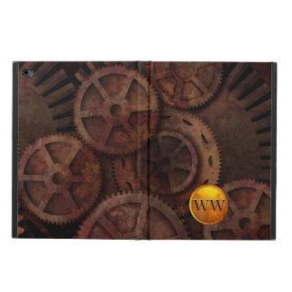 Custom Steampunk Gears and Brass Monogram Powis iPad Air 2 Case