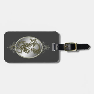 Custom Steel Dragon Luggage Tag