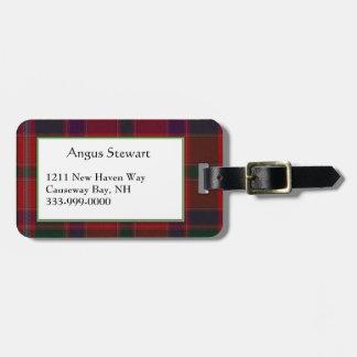 Custom Stewart Family Tartan Plaid Luggage Tag
