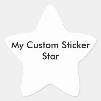 Custom Sticker - Star Shaped