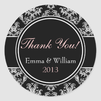 Custom stickers Thank you stickers name, date