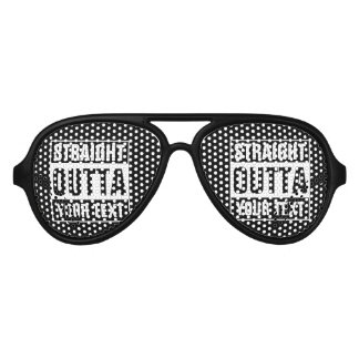 Custom STRAIGHT OUTTA party shades sunglasses