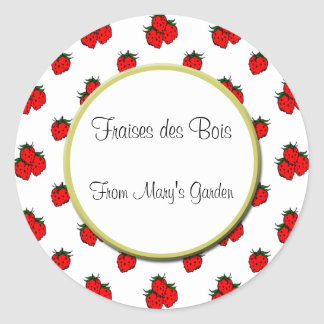 Custom Strawberry Pattern Canning Sticker