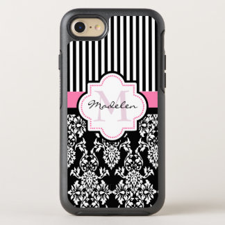Custom Striped Damask OtterBox Symmetry iPhone 8/7 Case
