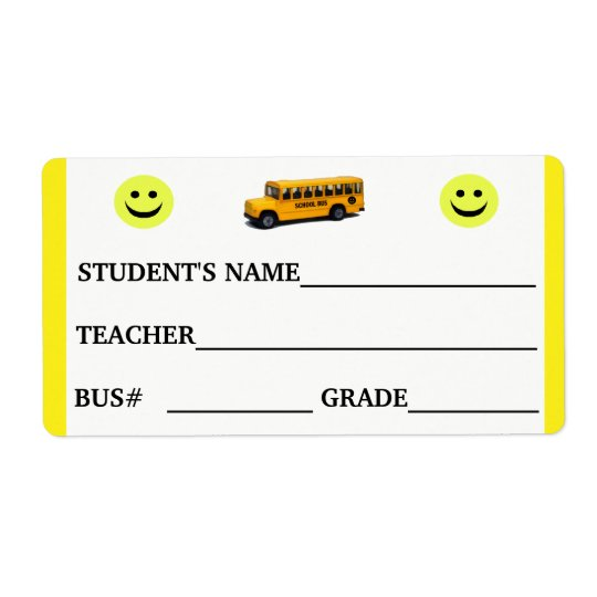 Custom Student ID and Bus Number Sticker