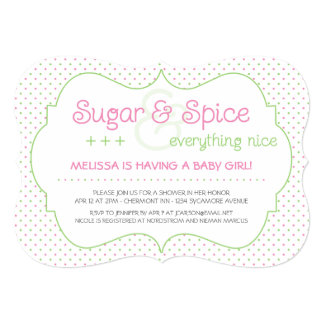 Custom Sugar and Spice Baby Shower Invitation