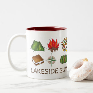 Custom Summer Camp Camping Tent Fire Trail Mix Mug
