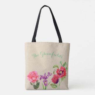Custom Summer Flowers Tote Bag