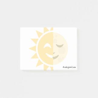 Custom Sun and Moon Post-it Notes