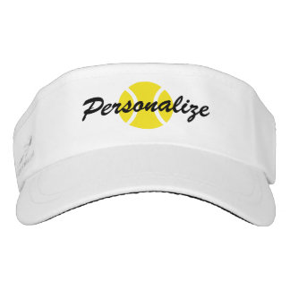 Custom sun visor cap for tennis player and coach