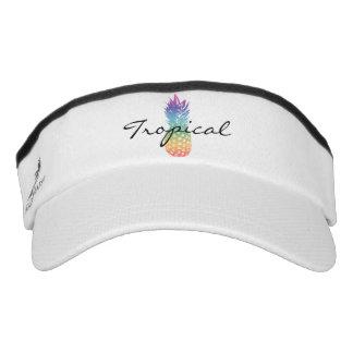 Custom sun visor cap with pineapple fruit logo