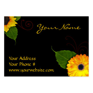 Custom Sunflower Business Cards