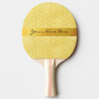 Custom Sunshine! Bright, Happy, Yellow and Gold Ping Pong Paddle