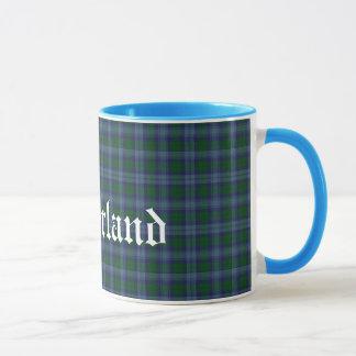 Custom Sutherland Scottish Clan Tartan Plaid Mug
