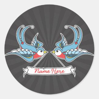 Custom Swallows Classic Round Sticker