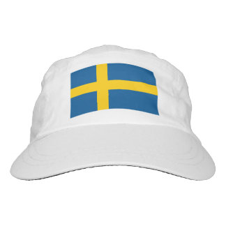 Custom Swedish flag knit and woven sports hats