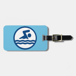 Custom Swimming Luggage Tag