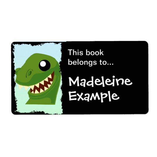 Custom T-Rex Booktag Shipping Label