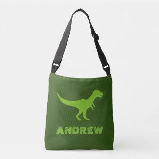 Custom t-rex dinosaur cross body bags for kids