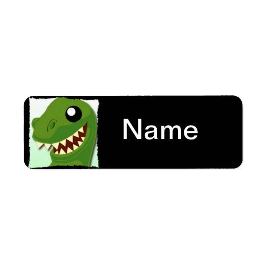 Custom T-Rex Name Label Return Address Label