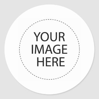 Custom T-Shirts And more Image Template Round Sticker
