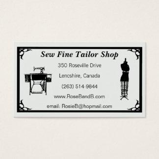 Custom Tailor / Seamstress Business Cards