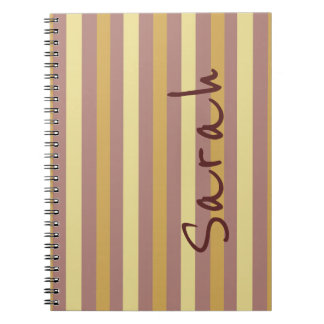 Custom Tan and Taupe Stripes Notebook