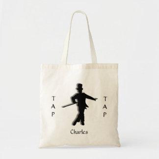 Custom Tap Dance Silhouette Tote Bag