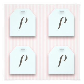 CUSTOM Teabag Tag on Pink Tea Party Card