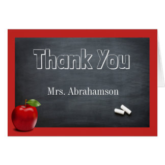Custom Teacher Thank You Card