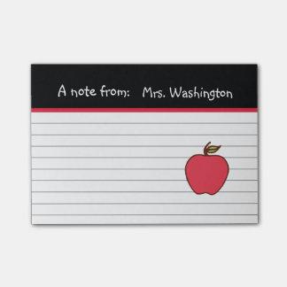 Custom Teacher's Apple Post It Notes Gift