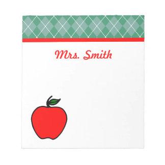 Custom Teacher's Class School Apple Notepad Gift
