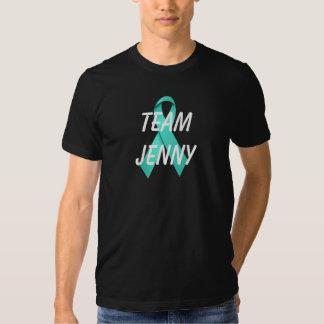 Custom Team Black Ovarian Cancer Teal Ribbon Shirt