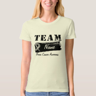 Custom Team Name - Brain Cancer T-Shirt