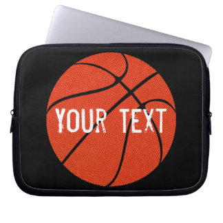Custom Team Text Basketball Neoprene Laptop Sleeve