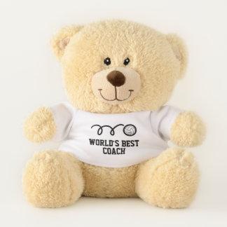 Custom teddy bear for volleyball player or coach
