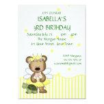 Custom Teddy Bear Yellow Fairy Princess Custom Announcements