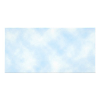 Custom Template Blue Sky With Clouds Picture Card