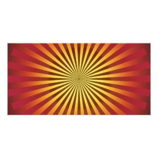 Custom Template: Gradient Radial Lines Personalised Photo Card