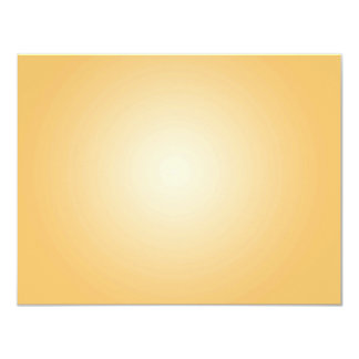 Custom Template: Gradient Radial Orange White Personalized Announcements