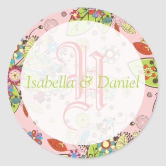 Custom Template Monogram Seal Stickers