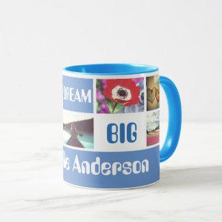Custom template photo motto and name mug