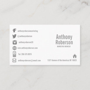 Social media business cards zazzle au custom template with social media symbols business card accmission Image collections